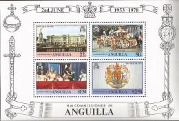 E)1978 ANGUILLA, BUCKINGHAM PALACE,  25TH ANNIV. OF CORONATION OF QUEEN ELIZABETH II, SOUVENIR SHEET, MNH - Anguilla (1968-...)