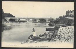 DAX Rare Lavandière Au Pont Du Chemin De Fer (NG) Landes (40) - Dax