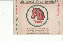 Buvard  (TEDDY La RUCHE  Le Crack De La Qualité-Creme Speciale Pour Chaussures - Wassen En Poetsen