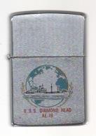ZIPPO - U.S.S. DIAMOND HEAD - AE-19 -  Chromé Brossé   - 1964 - Ref, 149 - Zippo