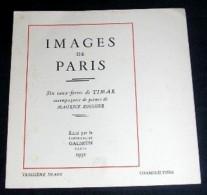 IMAGES DE PARIS. 03. CHAMPS ELYSEES. EAU-FORTE DE TIMAR. POEME DE MAURICE ROUHIER. 1932 - Arte