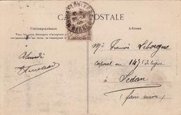 Carte CaD Sedan (Ardennes) Timbre Taxe - Poststempel (Briefe)