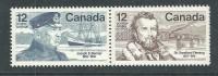 Canada Thème Polaire N° 640 / 41h XX J. E. Bernier Et Sir S. Fleming, Les 2 Vals En Paire Horizontale Sans Charnière, TB - 1952-.... Règne D'Elizabeth II