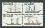 Canada Thème Polaire N° 580 / 83 XX Navires Côtiers Canadiens, Les 4 Veurs Se Tenant, Sans Charnière, TB - 1952-.... Règne D'Elizabeth II