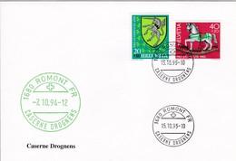 Kasernenstempel:  1680 ROMONT FR CASERNE DROGNENS 7.10.94 / 15.10.95. Zu: J269 + J287 - Poste Militaire