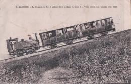 LANGRES Le Chemin De Fer à Crémaillère Reliant La Gare à La Ville, Située 140 Mètres Plus Haut - Langres