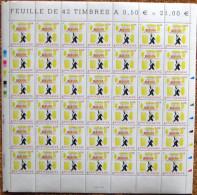 FRANCE 2004 FEUILLE COMPLETE DE 42 TIMBRES ANNIVERSAIRE OEUVRE DE SEMPE  YT N° 3688** - Feuilles Complètes