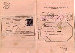 TB 998 - LAC -  Lettre Du Bureau Des Postes & Des Télégraphes à ETOILE Pour TOURCOING - Marcophilie (Lettres)