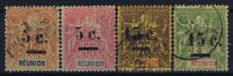 REUNION: Yv Nr 52 - 55 Used Obl.  1901 - Reunion Island (1852-1975)