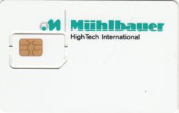 GERMANY - Muhlbauer GSM Demo Card, Mint - Germany