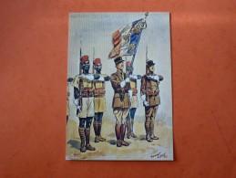 LE DRAPEAU DU 1 ER REGIMENT DE TIRAILLEURS SENEGALAIS ET SA GARDE 1940 -AQUARELLE DE MAURICE TOUSSAINT - Autres