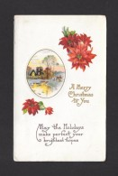 VOEUX  - WISHES - SOUHAITS DE NOËL - WISHING YOU A MERRY CHRISTMAS - EN RELIEF - EMBOSTED - WRITTEN IN 1919 - NICE STAMP - Noël