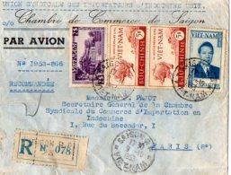 TB 999 - LSC - Lettre Par Avion Du VIETNAM MP SAIGON R P Pour PARIS - Viêt-Nam