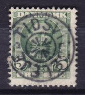 "Denmark 1907 Mi. 53    5 Ø Frederik VIII. Skilling (1365) Star Cancel ""TIDSVILDELEJE"" - 1905-12 (Frederik VIII)"