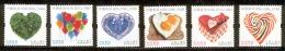 HONG KONG, CHINA  2015 Heart-shaped Items MNH, Scott # 1704-1709 - 1997-... Chinese Admnistrative Region