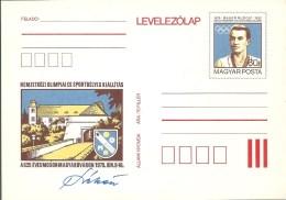 3279 Hungary Postcard Sport Olympic Paris 1900 Discus Champion Unused RARE