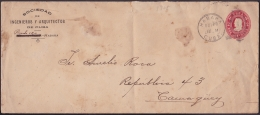 1903-EP-41 CUBA REPUBLICA. 1903. POSTAL STATIONERY. Ed.82. 2c. MEDIDA: 241 X 105 Mm. IMPRESO SOC ARQUITECTOS DE CUBA. - Cuba