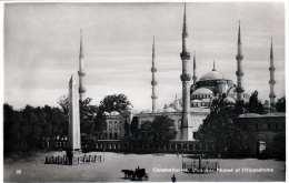 CONSTANTINOPEL - Mosquee Ahmed Et L'Hippodrome, Fotokarte 1935? - Türkei