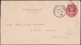 1903-EP-45 CUBA REPUBLICA. 1903. POSTAL STATIONERY. Ed.77. 2c. PAPEL BLANCO. 1904. HABANA. - Lettres & Documents