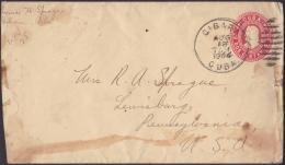 1903-EP-46 CUBA REPUBLICA. 1903. POSTAL STATIONERY. Ed.78. 2c. PAPEL CREMA. 1904. GIBARA. - Lettres & Documents