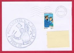 Marine, Aviso LV Lavallée, Zone De La Ligne, Oblit.  Mécanique Paris Tri Interarmées , Capitaine Haddock, Tintin (3335) - Marcophilie (Lettres)