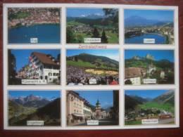 Schweiz - Mehrbildkarte Zentralschweiz: Zug, Einsiedeln, Luzern, Küssnacht, Rigi, Schwyz, Engelberg, Altdorf + Andermatt - Non Classés