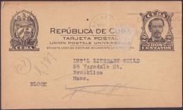 1907-EP-21 CUBA REPUBLICA. 1907. POSTAL STATIONERY. Ed.72. 2c. TARJETA CESPEDES. A US. - Cuba
