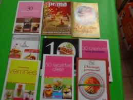 Lot De Recettes De Cuisine  -prima-modes Et Travaux-campaillou-civ-roquefort Gabriel  Coluet - Other Collections