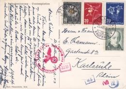 "Switzerland PPC Selbstbesinnung - Comtemplation ST. GALLEN 1943 Germany Pro Juventute Complete Set ""OKW"" Zensur (2 Scans - Pro Juventute"