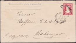 1910-EP-79 CUBA REPUBLICA. 1910. POSTAL STATIONERY. Ed.89. 2c. AMBULANTE FERROCARRIL RAILROAD CARDENAS Y YAGUARAMAS. - Lettres & Documents