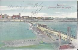 Revere (Mantova) 1906 Panorama Preso Da Ostiglia - Italie