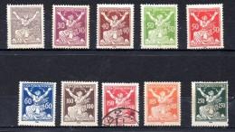 CHECOSLOVAQUIA.  AÑO 1920. Mi 170A/180A  D 14  (MNH/MH/USED) - Czechoslovakia