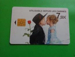 Telecarte 7.50 Euro Garconnet Et Fillette +rose Rouge - Télécartes
