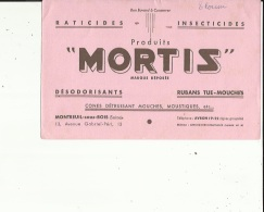 Buvard G F_de MORTIS  Raticides--Insecticides-Desodorisants--Rubans-Tue-mouches_a Montreuil-sous-Bois - Animaux