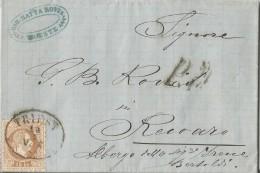 """AUSTRIA04 - Lettera Del 13/7/1871 Da Trieste A Recoaro  Con 15 Kreuzer E """"P.D."""" In Nero  Leggi ... - 1850-1918 Imperium"""