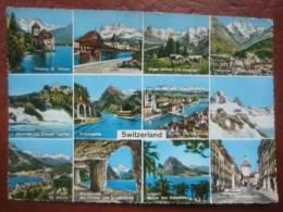 "Schweiz - Mehrbildkarte: ""Switzerland"" Ua Bern, Luzern, Interlaken, Rheinfall, Jungfraujoch,St. Moritz ... - Unclassified"