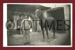 CARTAXO - UM CAVALO - 1940 REAL PHOTO PC - Santarem