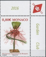 MONACO 2016  / Y.T. N° 3035 - CONCOURS INTERNATIONAL DE BOUQUETS  - NEUF ** - Monaco