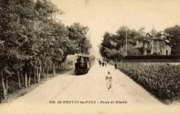 44 SAINT-BREVIN-LES-PINS - Route De Mindin - (tramway à Vapeur) - Saint-Brevin-l'Océan