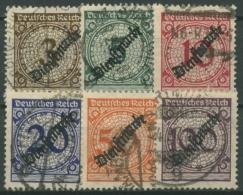 Deutsches Reich Dienstmarken 1923 Mit Aufdruck D 99/104 Gestempelt - Officials