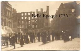 42 - SAINT-ÉTIENNE - X2 CARTE-PHOTO - Incendie De La Place De L´Hôtel-de-Ville ++++++ Restaurant Vve Gaillard ++++ - Saint Etienne