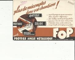 Buvard G F_de FOP  (Protège Angle Metallique A Saint-Etienne 42 -Fort-Epais_Voir Scan - B