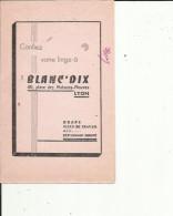 Buvard G F_ Linge De Maison -BLANC'DIX  Draps-Bleu De Travail A Lyon 69 - L