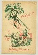 Nederlands Indië - 1947 - Speciale Kerstkaart Dienst Welfare Van Makasser Naar Amsterdam - Netherlands Indies