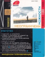 F.Y.R.O.M. - Mobimak(reverse Instructions), Chip GEM1.3, 04/97, Used - Macedonia