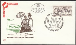 Austria Vienna 1968 / 100 Years Of Gallop Races In The Freudenau / Day Of Youth Philately - Horses