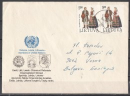 56-974 // LITH. -  LETTER From LITHUANIA    To SOFIA / BG 1993 - Lituanie