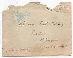 1915--cachet Hôpital-Dépôt De Convalescence D'Angers  Sur Lettre Pour THOUARS-79--cachet Thouars Au Verso - Marcophilie (Lettres)