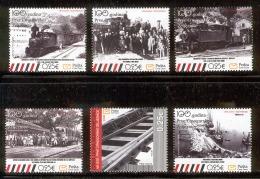 MONTENEGRO 2008 First Railway, Centenary, Scott No. 201-206 MNH - Montenegro