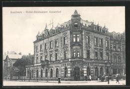 AK Saarlouis, Hotel Restaurant Kaiserhof, Pferdegespann - Kreis Saarlouis